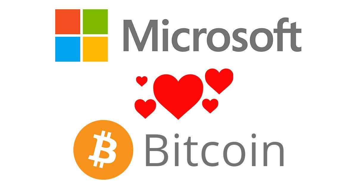 Microsoft adotta Bitcoin