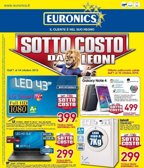 Volantini Euronics e Trony, le offerte di ottobre